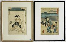 TWO JAPANESE WOODCUTS:  Ando Hiroshige (1797-1858)