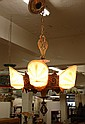 ART DECO LIGHT FIXTURE, Beardslee Chandelier