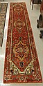 HAND KNOTTED ORIENTAL HALL RUG, Persian Serapi