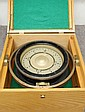 U.S. NAVY BU SHIPS COMPASS IN OAK CASE, C.G. Conn,