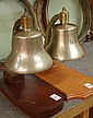 TWO U.S. NAVY SHIPS BELLS, WW-II vintage, both
