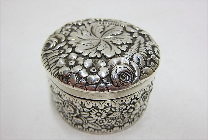 TIFFANY & CO. STERLING SILVER BOX, pattern #8856,