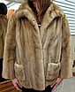 LADY'S MINK JACKET, light brown fur, with collar,