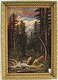 AMERICAN SCHOOL OIL ON CANVAS Forest Scene with
