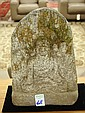 CHINESE GRANITE SCULPTURE, an upright heavy solid