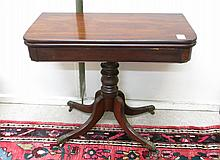 LATE FEDERAL PERIOD MAHOGANY GAME TABLE, American,