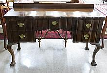 CHIPPENDALE REVIVAL WALNUT DESK OR DRESSING TABLE,