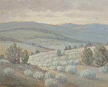 CLYDE LEON KELLER OIL ON CANVASBOARD (Oregon 1872-