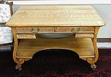 A RECTANGULAR OAK LIBRARY TABLE, American, c. 1900