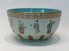 CHINESE QING PORCELAIN BOWL with hand painted ruyi