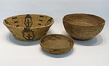 THREE SOUTHWEST NATIVE AMERICAN BASKETS, the first