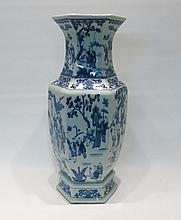 CHINESE BLUE AND WHITE PORCELAIN KANGXI STYLE VASE