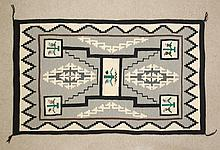 NAVAJO WEAVING, storm pattern, 3'3