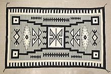 NAVAJO WEAVING, storm pattern, 4'0