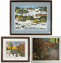 CHARLES WYSOCKI, THREE OFF-SET LITHOGRAPHS (Americ