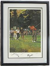AUTOGRAPHED GOLF PRINT, FRED MEYER CHALLENGE by  B