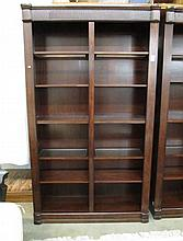 LARGE CONTEMPORARY OPEN-SHELF BOOKCASE, divided  i