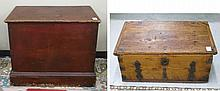 TWO LIFT-TOP COUNTRY PINE BLANKET CHEST, American,