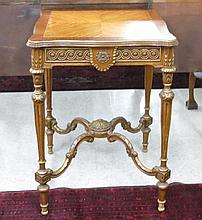 LOUIS XVI STYLE LAMP TABLE, American, c. 1930s,  a