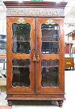 CARVED AND PAINT DECORATED DISPLAY CABINET, Indone