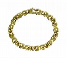 NINE KARAT GOLD CHAIN BRACELET, measuring 7-1/4