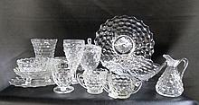 FOSTORIA STEMWARE AND TABLEWARE, forty-four pieces