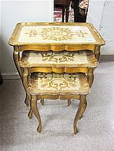 A NESTING SET OF THREE OCCASIONAL TABLES, Italian,