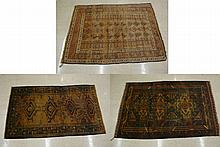 THREE BELOUCHI TRIBAL AREA RUGS, all hand knotted