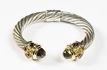 DAVID YURMAN CABLE CUFF BRACELET:  sterling silver