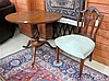 MAHOGANY TEA TABLE AND SIDE CHAIR, English, late