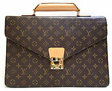 LOUIS VUITTON MONOGRAM BRIEFCASE, monogram canvas