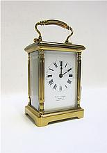 MAPPIN & WEBB CARRIAGE CLOCK in brass case with