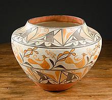 ZIA PUEBLO INDIAN POTTERY JAR, the Zia indigenous