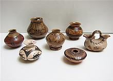 SEVEN SOUTHWEST AMERICAN INDIAN POTTERY VESSELS