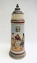 GERMAN HAND PAINTED STEIN from the late 19th