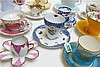 COLLECTION ASSORTED TEACUP & SAUCER SETS, 25 sets,
