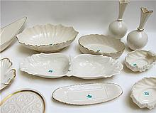 FOURTEEN PIECES OF LENOX TABLEWARE AND VASES, all