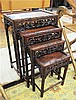 CARVED ROSEWOOD NESTING TABLE SET, Chinese export,