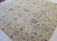 SQUARE ORIENTAL CARPET, hand knotted in an overall