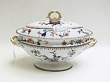 ROYAL WORCESTER CERAMIC LIDDED SOUP TUREEN, hand