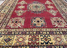 HAND KNOTTED ORIENTAL AREA RUG, Caucasian Kazak
