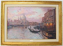 THOMAS KINKADE EMBELLISHED OFFSET LITHOGRAPH ON