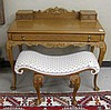 QUEEN ANNE REVIVAL MAPLE DRESSING TABLE AND