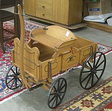 CHILD'S REPLICA BUCKBOARD WAGON, for John Deere
