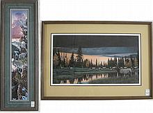 ROD FREDERICK, TWO OFFSET LITHOGRAPHS (Oregon,