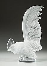 LALIQUE FRANCE CRYSTAL ROOSTER,