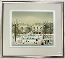 MICHEL DELACROIX COLOR LITHOGRAPH (France, born 1933) Titled