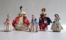 FIVE ROYAL DOULTON FIGURINES including