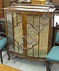 WALNUT AND GLASS CHINA DISPLAY CABINET, Queen Anne