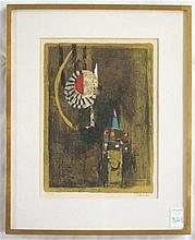 JOHNNY FRIEDLAENDER COLOR LITHOGRAPH (France/Poland, 1912-1992) Abstract composition.  Image measures 15